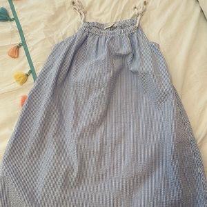 Seersucker summer dress for girls size 8-9y
